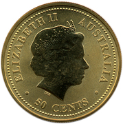 50 Cents - Elizabeth II (4th Portrait - Year of the Pig) -  obverse