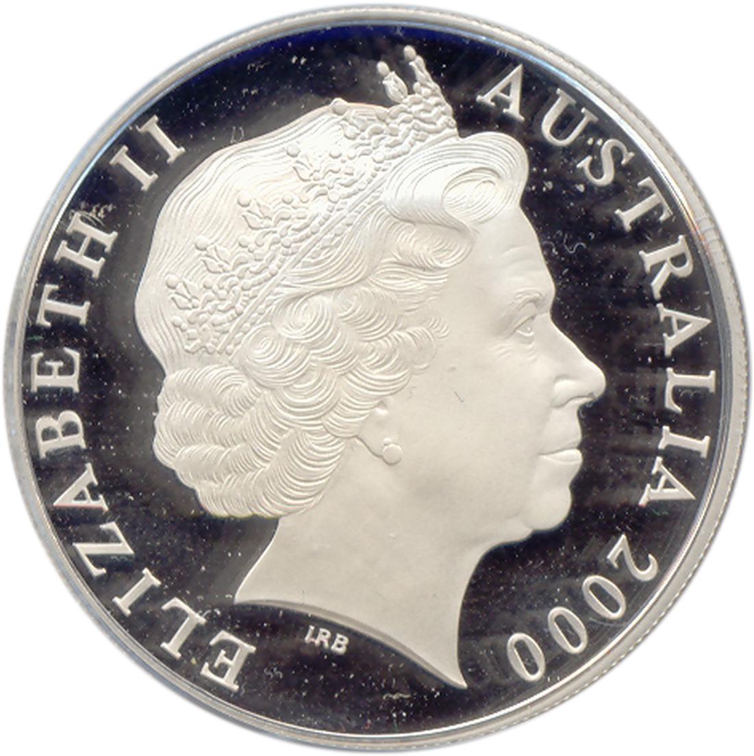 1 Dollar Elizabeth Ii 4th Portrait Quot Kangaroo Quot Silver