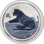 "1 Dollar - Elizabeth II (""Lunar Year Series"" Silver Bullion Coinage) -  reverse"