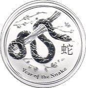 1 Dollar - Elizabeth II (4th Portrait - Year of the Snake - Silver Bullion Coin) -  reverse