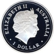 "1 Dollar - Elizabeth II (""Lunar Year Series"" Silver Bullion Coinage) -  obverse"