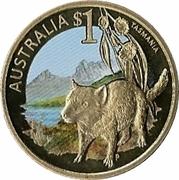 1 Dollar - Elizabeth II (4th Portrait - Tasmania) -  reverse