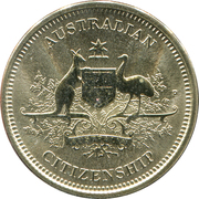 1 Dollar - Elizabeth II (4th Portrait - Citizenship) -  reverse