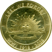 1 Dollar - Elizabeth II (End of WWI) -  reverse