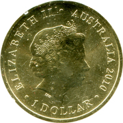 1 Dollar - Elizabeth II (4th portrait; Year of the Tiger) -  obverse