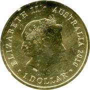 1 Dollar - Elizabeth II (4th portrait; Year of the Tiger) -  obverse