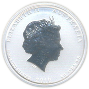 50 Cents - Elizabeth II (''Lunar Series II'' Silver Bullion Coinage; colourized) -  obverse