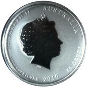 """50 Cents - Elizabeth II (""""Lunar Series II"""" Silver Bullion Coinage) -  obverse"""