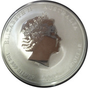 "1 Dollar - Elizabeth II (4th portrait; ""Lunar Year Series"" Silver Bullion Coinage) -  obverse"