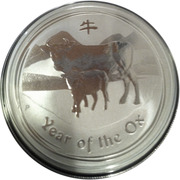 1 Dollar - Elizabeth II (4th portrait - Year of the Ox - Silver Bullion Coin) – reverse
