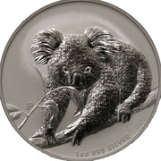 "1 Dollar - Elizabeth II (""Koala"" Silver Bullion Coinage) -  reverse"