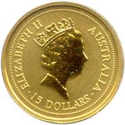 "15 Dollars - Elizabeth II (""Australian Nugget"" Gold Bullion Coinage) -  obverse"