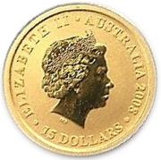 """15 Dollars - Elizabeth II (""""Kangaroo"""" Gold Bullion Coinage) -  obverse"""