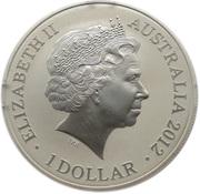 "1 Dollar - Elizabeth II (""Kangaroo"" Silver Bullion Coin) -  obverse"