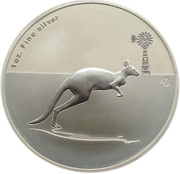 "1 Dollar - Elizabeth II (""Kangaroo"" Silver Bullion Coin) -  reverse"