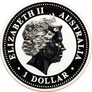 1 Dollar - Elizabeth II (4th Portrait - Year of the Rooster - Silver Bullion Coin) -  obverse