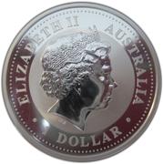1 Dollar - Elizabeth II (4th Portrait - Australian Kookaburra) -  obverse