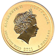 """5 Dollars - Elizabeth II (""""Lunar Year Series"""" Gold Bullion Coinage) -  obverse"""