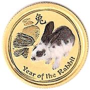 """5 Dollars - Elizabeth II (""""Lunar Year Series"""" Gold Bullion Coinage) -  reverse"""