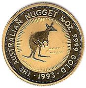 15 Dollars - Elizabeth II (3rd Portrait - Australian Kangaroo - Gold Bullion Coin) -  reverse