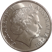 20 Cents - Elizabeth II (4th Portrait - Year of Volunteers) -  obverse