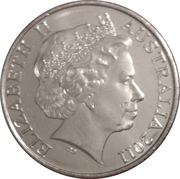 20 Cents - Elizabeth II (International Women's Day) -  obverse
