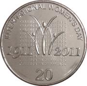 20 Cents - Elizabeth II (International Women's Day) -  reverse