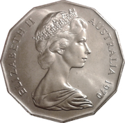 50 Cents - Elizabeth II (Captain Cook) – obverse