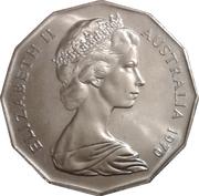 50 Cents - Elizabeth II (2nd Portrait - Captain Cook) -  obverse