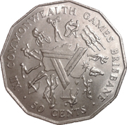 50 Cents - Elizabeth II (Brisbane Commonwealth Games) – reverse