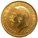 ½ Sovereign - George V – obverse