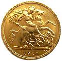 ½ Sovereign - George V – reverse