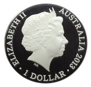1 Dollar - Elizabeth II (4th Portrait - Kangaroo In Outback) -  obverse