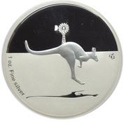 1 Dollar - Elizabeth II (4th Portrait - Kangaroo In Outback) -  reverse