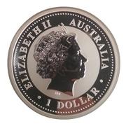 """1 Dollar - Elizabeth II (4th Portrait - """"Lunar Year Series"""" Silver Bullion Coinage) -  obverse"""