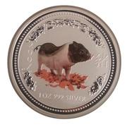 """1 Dollar - Elizabeth II (4th Portrait - """"Lunar Year Series"""" Silver Bullion Coinage) -  reverse"""