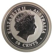 """50 Cents - Elizabeth II (""""Lunar Year Series"""" Silver Bullion Coinage) -  obverse"""