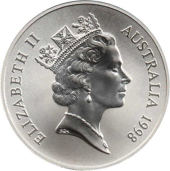 1 Dollar Elizabeth Ii Kangaroo Silver Bullion Coinage