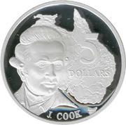 5 Dollars - Elizabeth II (James Cook) -  reverse