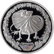 5 Dollars - Elizabeth II (4th Portrait - Sydney 2000 Series - Silver Proof) -  reverse