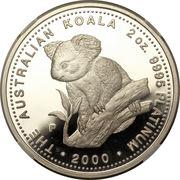200 Dollars - Elizabeth II (4th Portrait - Koala - Platinum Bullion Coin) -  reverse