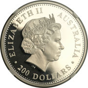 200 Dollars - Elizabeth II (4th Portrait - Koala - Platinum Bullion Coin) -  obverse