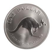 """1 Dollar - Elizabeth II (""""Kangaroo"""" Silver Bullion Coinage) -  reverse"""