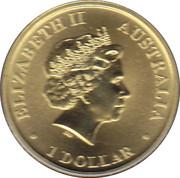 """1 Dollar - Elizabeth II (""""World Youth Day"""") -  obverse"""