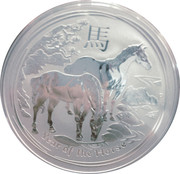 1 Dollar - Elizabeth II (4th Portrait - Year of the Horse - Silver Bullion Coin) -  reverse