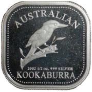 50 Cents - Elizabeth II (4th Portrait - Australian Kookaburra) -  reverse