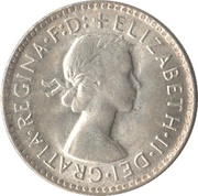 "3 Pence - Elizabeth II (1st Portrait; with ""F:D:"") – obverse"
