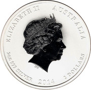2 Dollars - Elizabeth II (4th Portrait - Year of the Horse - Silver Bullion Coin) -  obverse