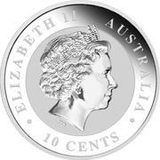 "10 Cents - Elizabeth II (""Koala"" Silver Bullion Coinage) – obverse"