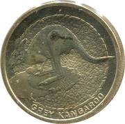 1 Dollar - Elizabeth II (Grey Kangaroo) -  reverse